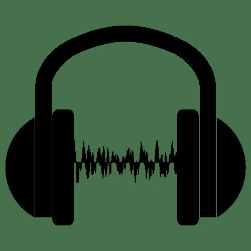 Image of headphones playing music
