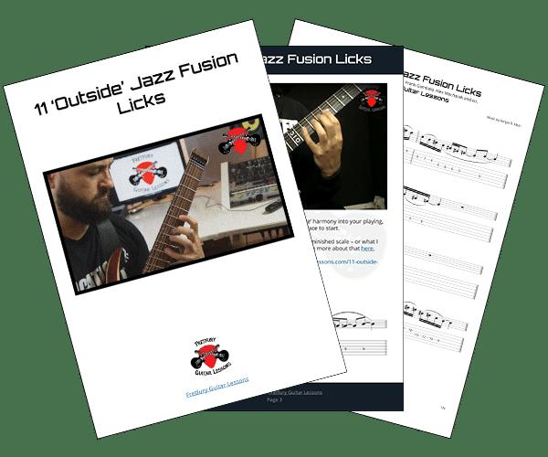 11 'Outside' Jazz Fusion Licks PDF download image