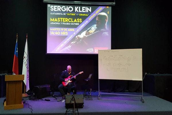 Sergio on stage teaching a masterclass